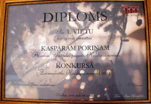 """Diploms """"Ainavām"""""""