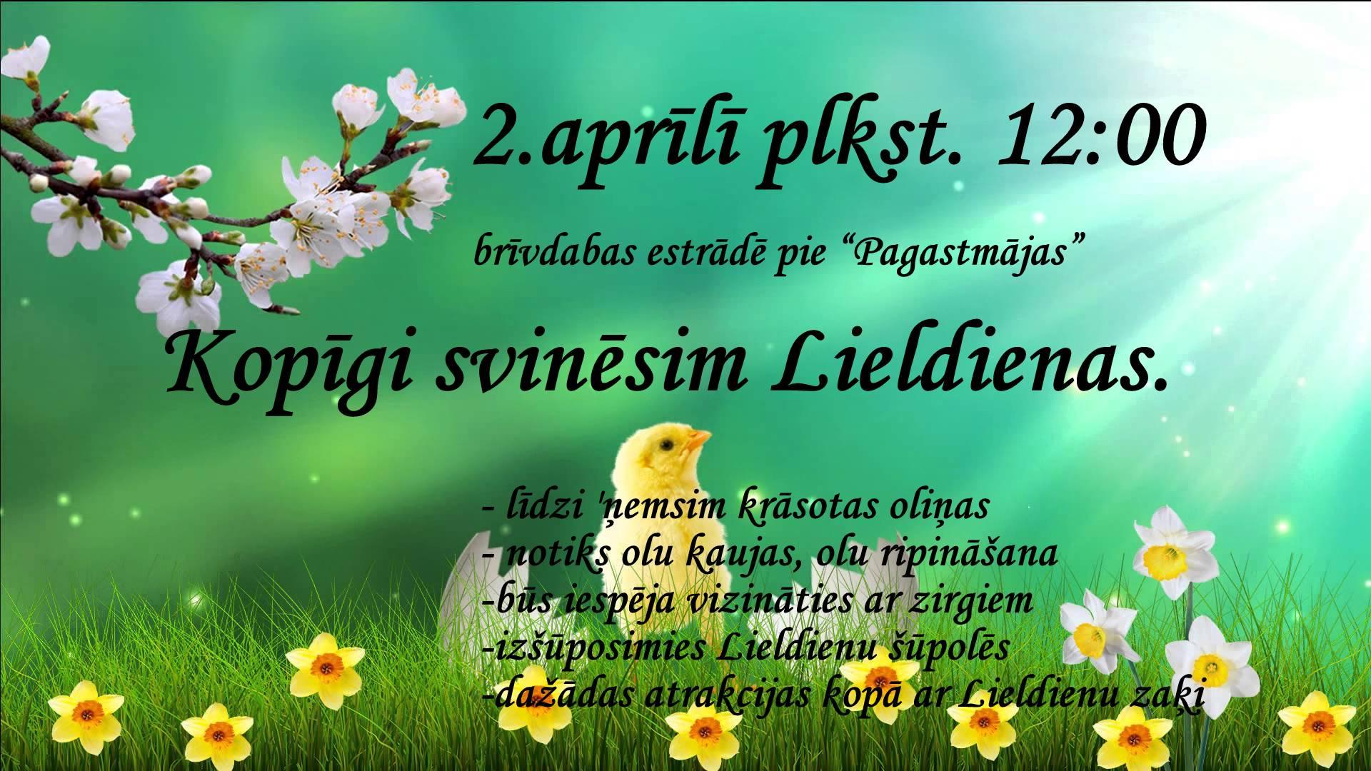 2. aprīlī – Kopīgi svinēsim Lieldienas
