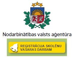 Reģistrēšanās Nodarbinātības pasākumam vasaras brīvlaikā